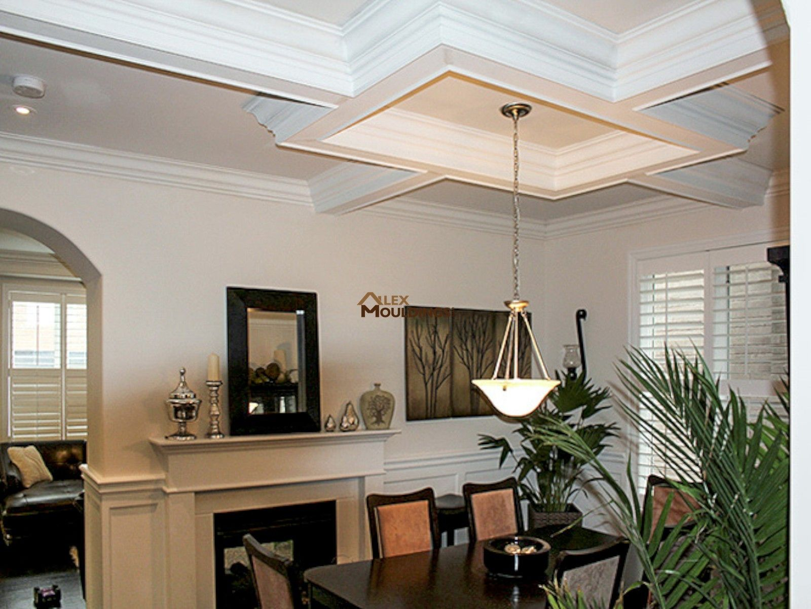 Dining Room Ceiling Box With Pendant Light
