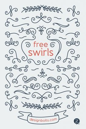 Free Decorated Vector Swirls Free Graphics Fancy Fonts