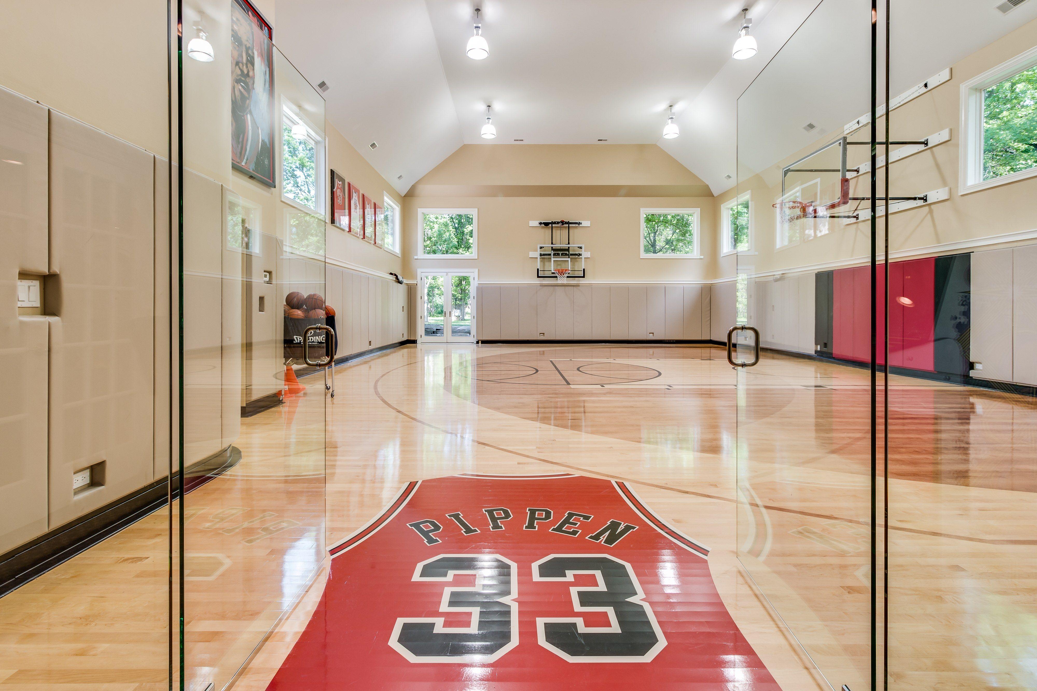 Architectural Digest On Twitter Home Basketball Court Indoor Basketball Court Scottie Pippen