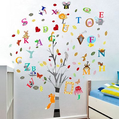 Ebern Designs Colourful Photo And Alphabet Wall Decal In 2020