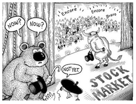 Cartoon Bull, Bear and Stock Market (With images) Stock