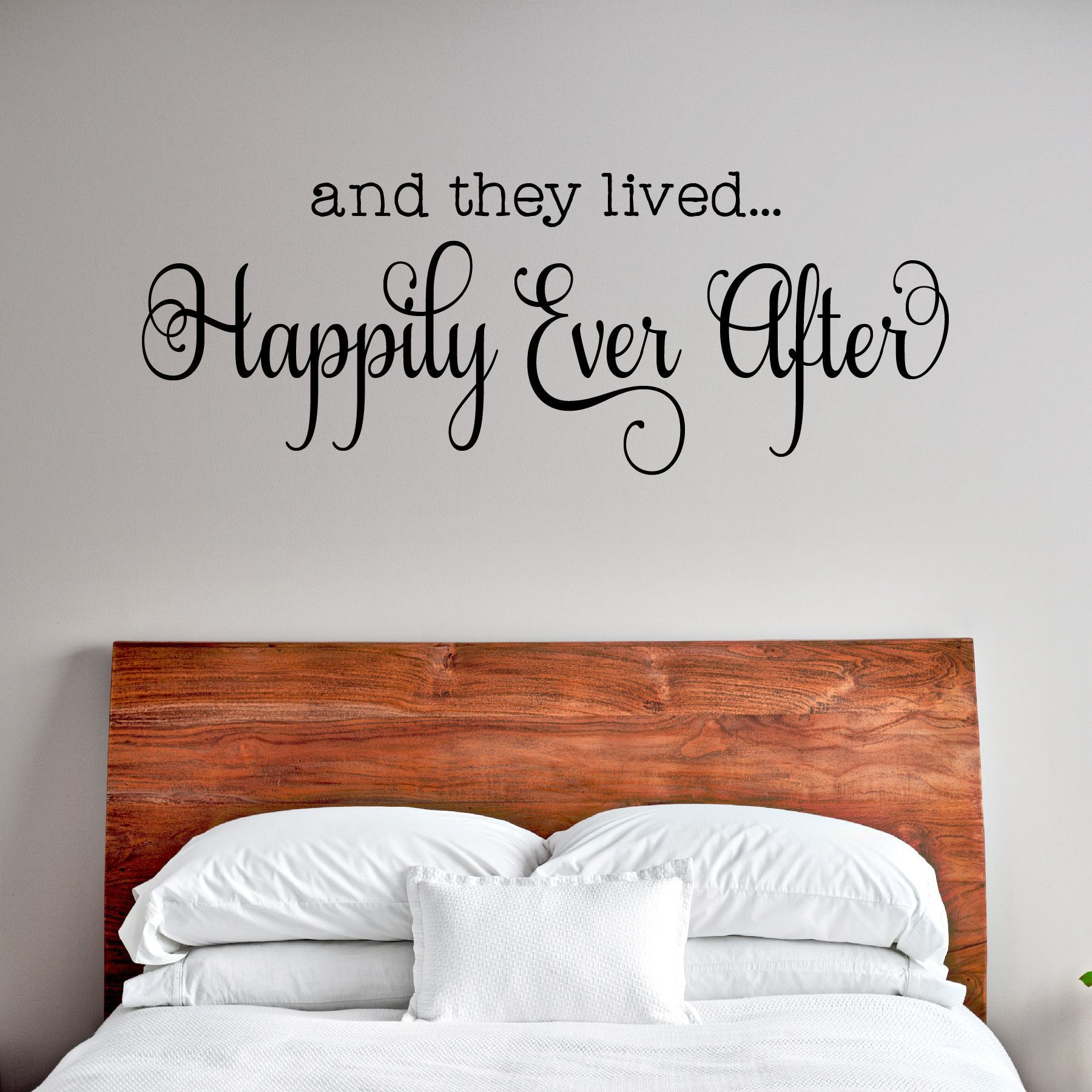 And They Lived Happily Ever After Wall Decal Wall Decals Are Growing In Popularity They Ar Disney Home Decor Wall Quotes Decals Living Room Unique Home Decor