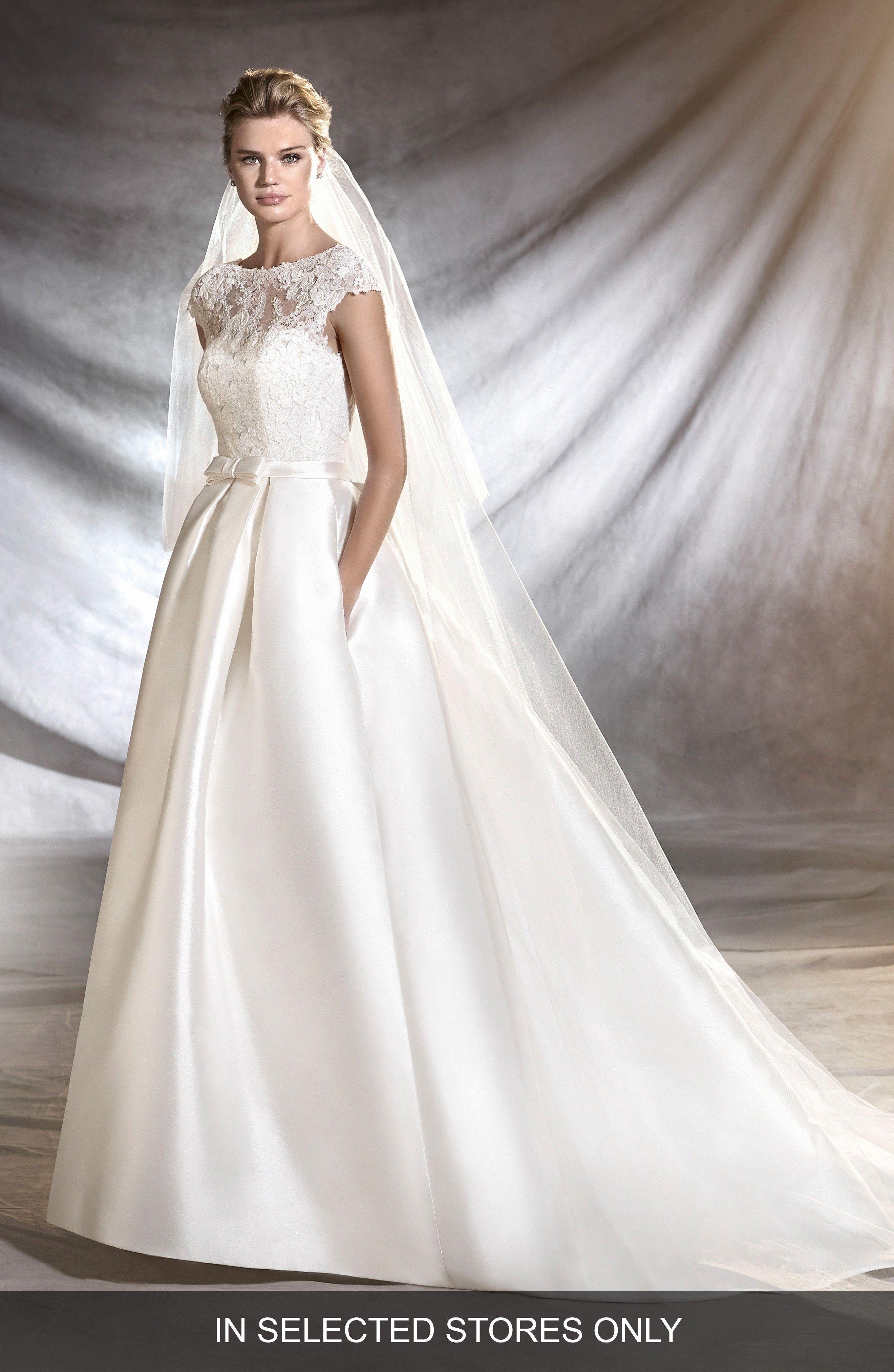 Osasun Lace Bodice Ballgown PRONOVIAS at Nordstrom (affiliate link ...
