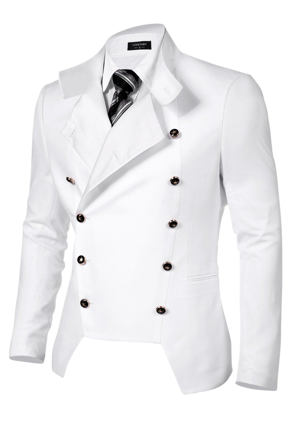 5e747388e4f Coofandy Men s Casual Double-breasted Jacket Slim Fit Blazer at Amazon  Men s Clothing store
