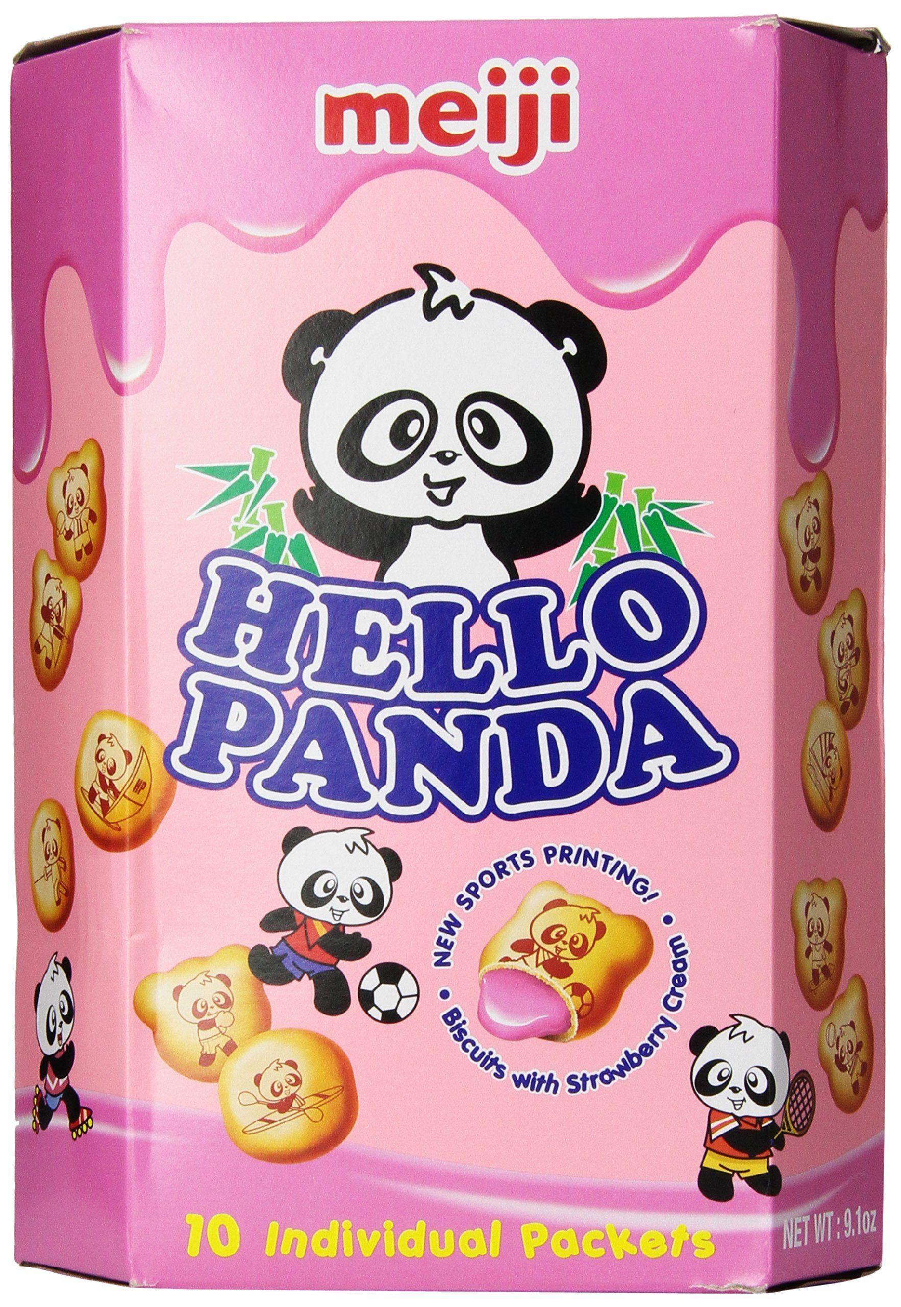 Meiji Hello Panda Cookies-L, Strawberry, 9.1 Ounce