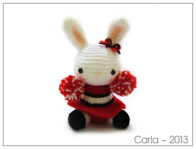 Cheerleader Bunny Amigurumi Free Download Pattern Crochet