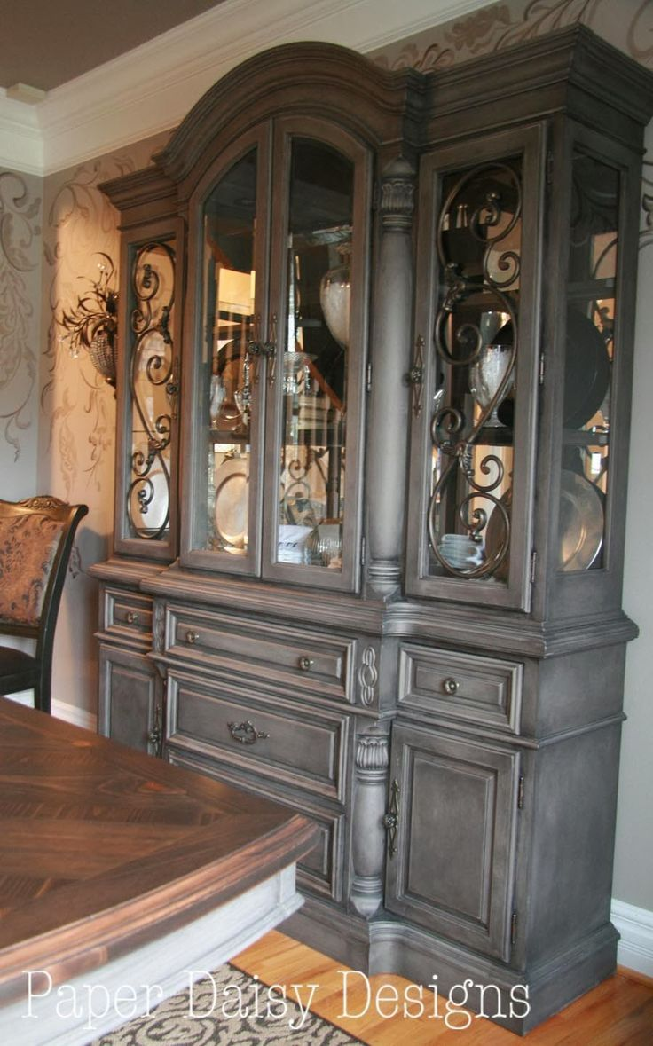 Image result for walnut china cabinet with pickled birch interior ...