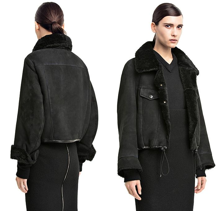 Acne Studios Move black Unlined Shearling Jacket Denim Details ...