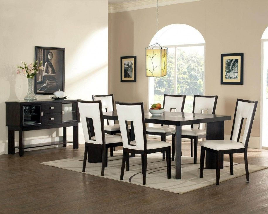 Superb Leather Dining Room Chairs · Increase Your Home Value With 2017 Stylish  Black And White Dining Room Decor