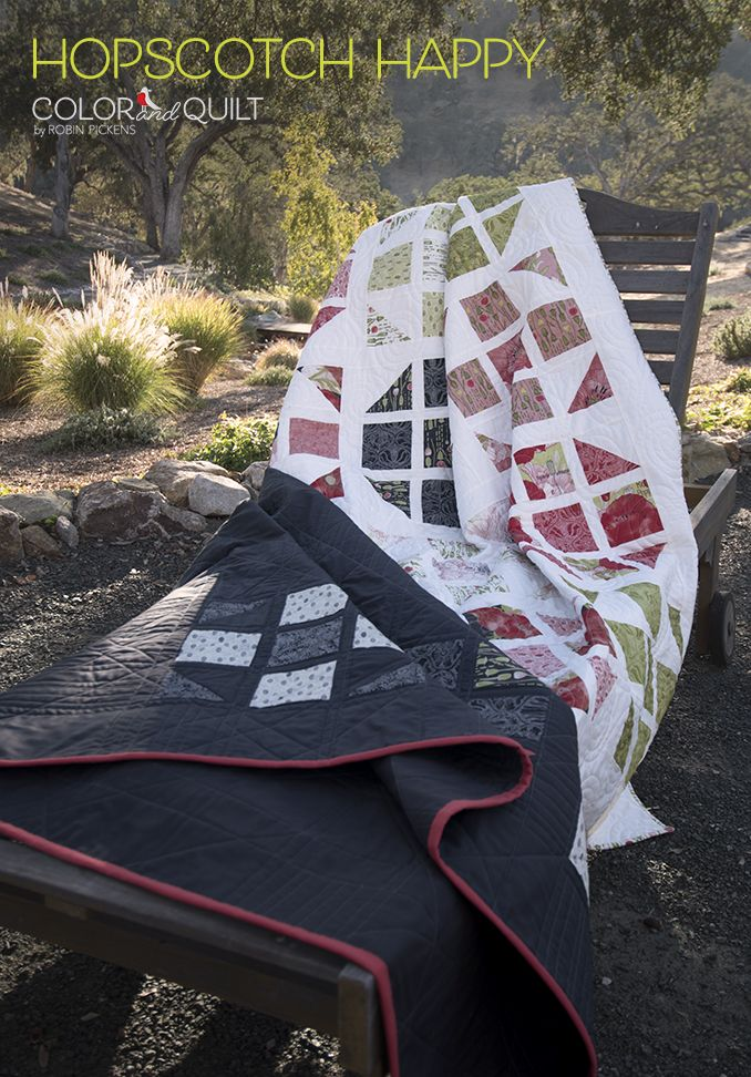 Hopscotch Happy Quilt Pattern by Robin Pickens. Available at https ... : hopscotch quilt shop - Adamdwight.com
