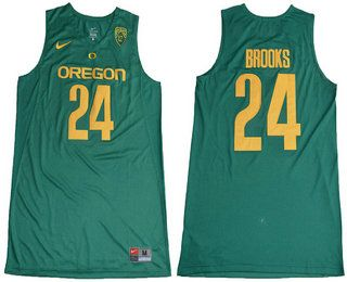 $21 Oregon Ducks #24 Dillon Brooks Dark Green College Basketball 2017 NCAA Nike  Swingman Men\u0027s