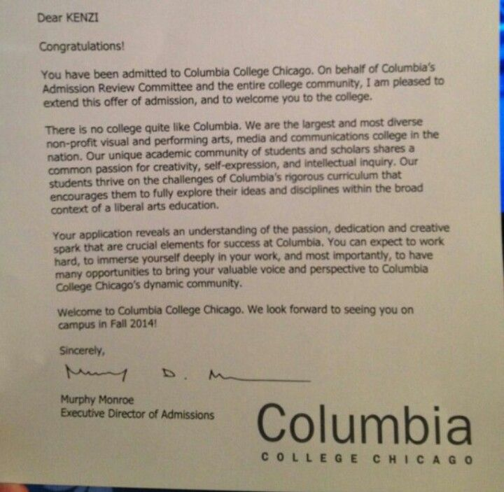 KenziS Acceptance Letter To College  Amazing Daughter Kenzi