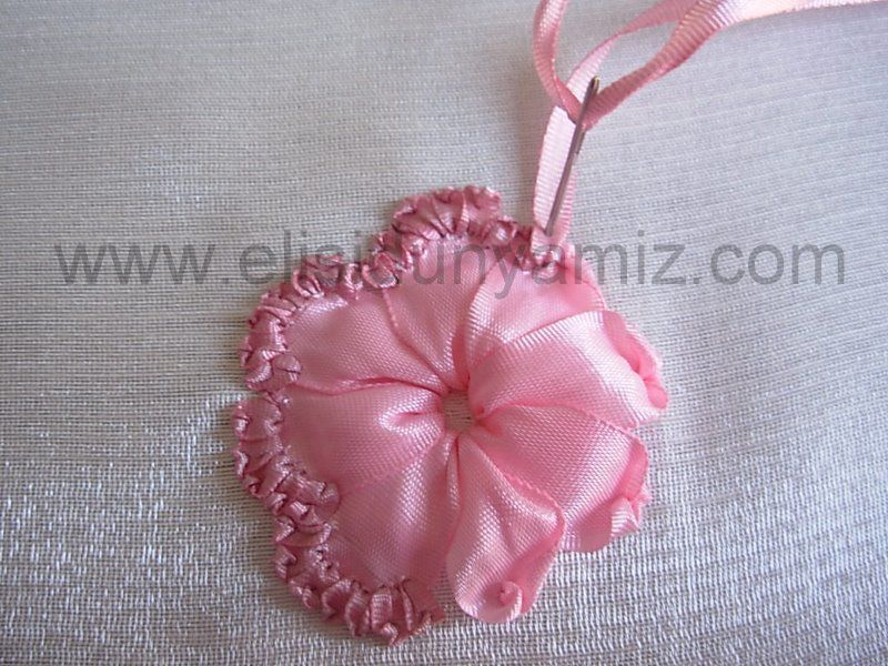 Step By Step Silk Ribbon Embroidery Rose Tutorial Emb Ribbon