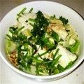 豆腐のとろとろ炒め。香菜たっぷり。