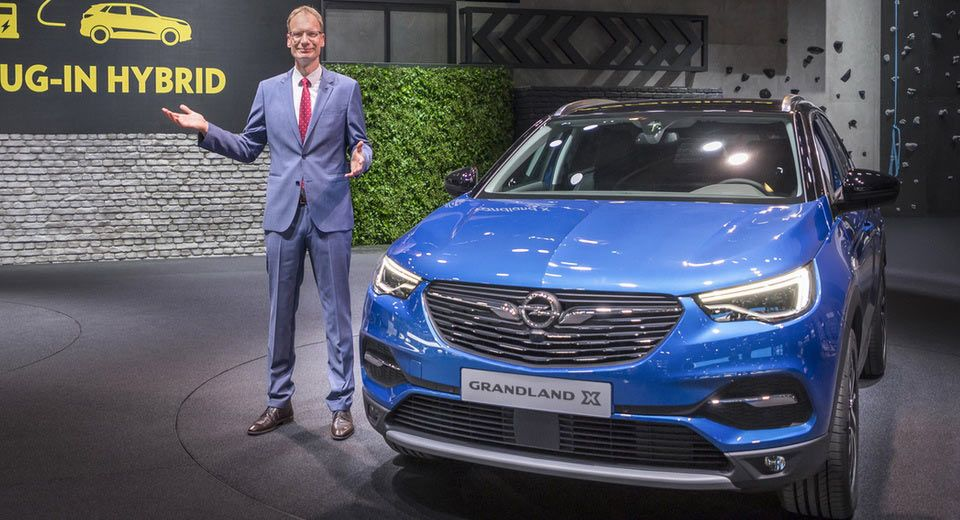 New Grandland X To Become Opel S First Plug In Hybrid Model Carscoops Opel New Cars Model