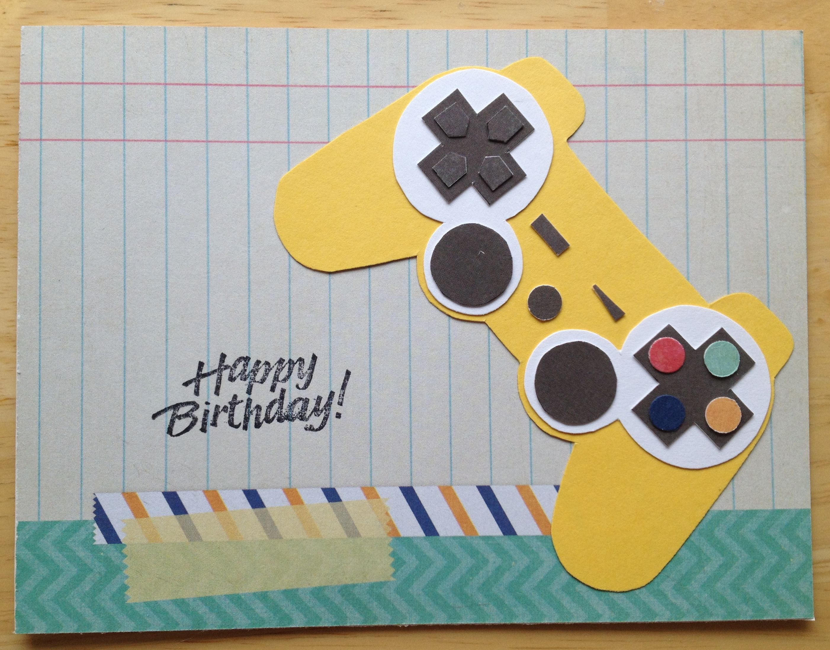 Card I Made For My Brother In Laws 17th Birthday Homemade Teen Boys Playstation Controller
