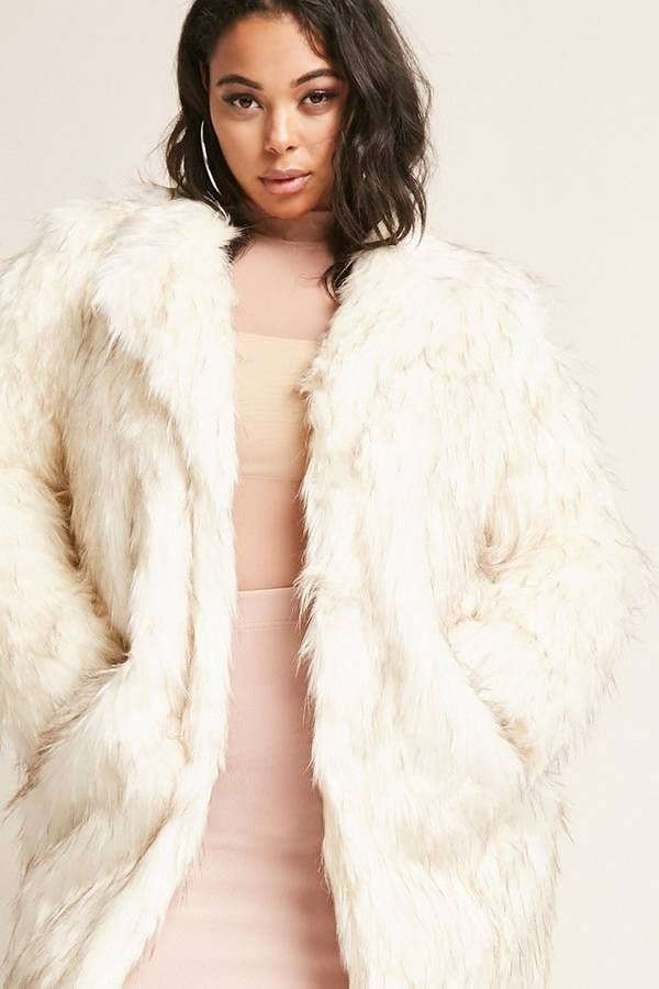 af42181f42d8c FOREVER 21+ Plus Size SHACI Faux Fur Jacket