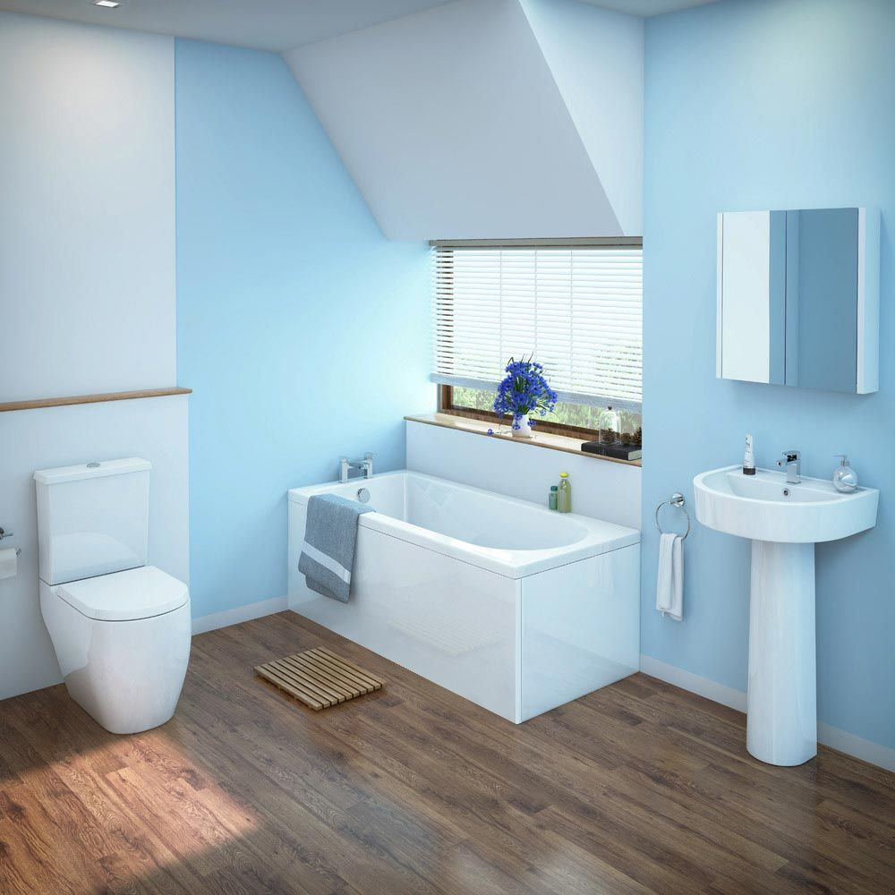 Bianco Bathroom Suite With Single Ended Bath 3 Bath Size Options At Victorian Plumbing Uk Simple Bathroom Designs Cheap Bathroom Suites Cheap Bathrooms