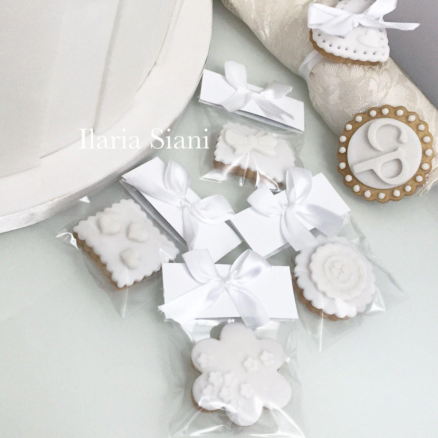 Segnaposto Matrimonio Total White.Biscottini Segnaposto Per Un Matrimonio Total White