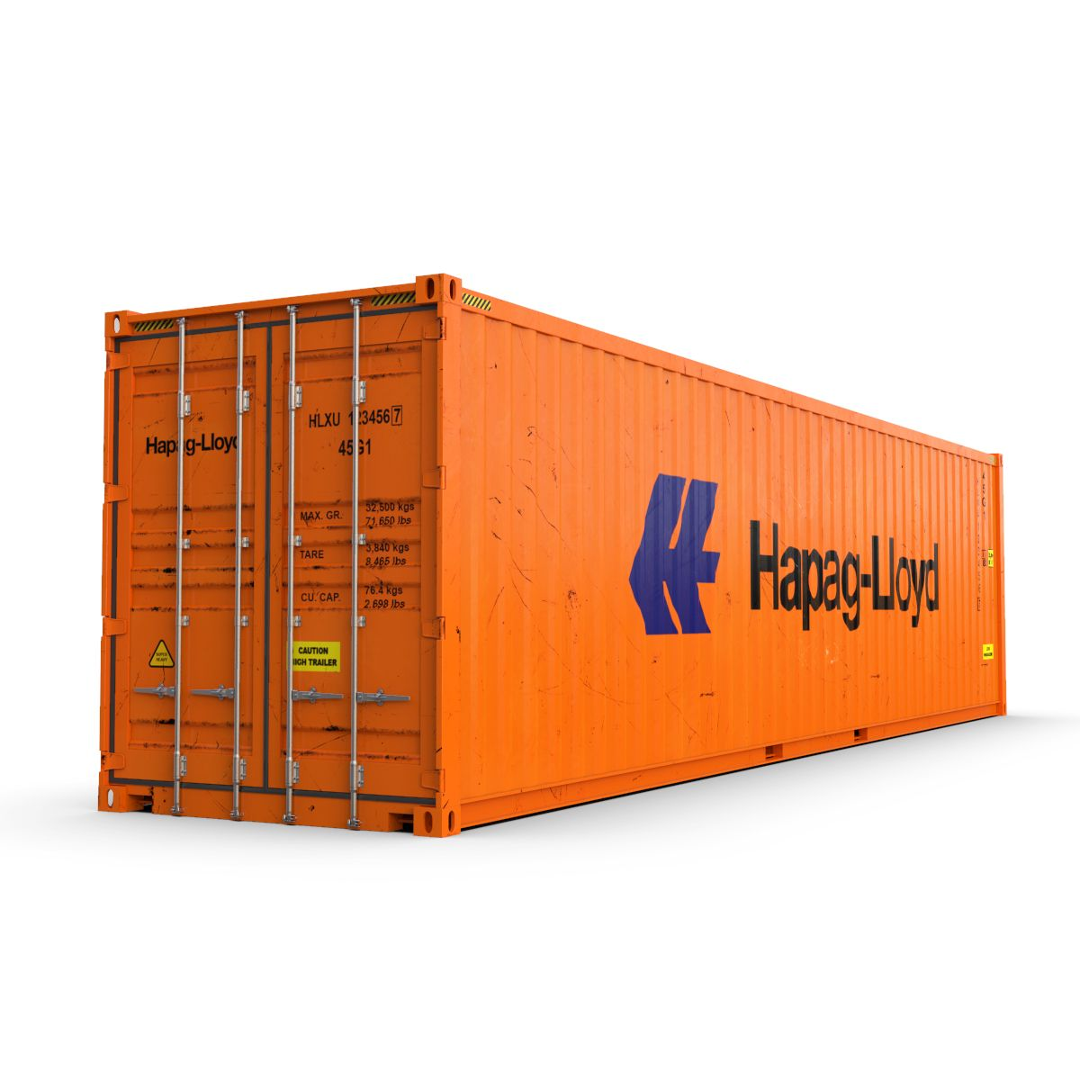 40 Feet High Cube Hapag Lloyd Shipping Container High Cube Feet Shipping Shipping Container Container Cargo Container