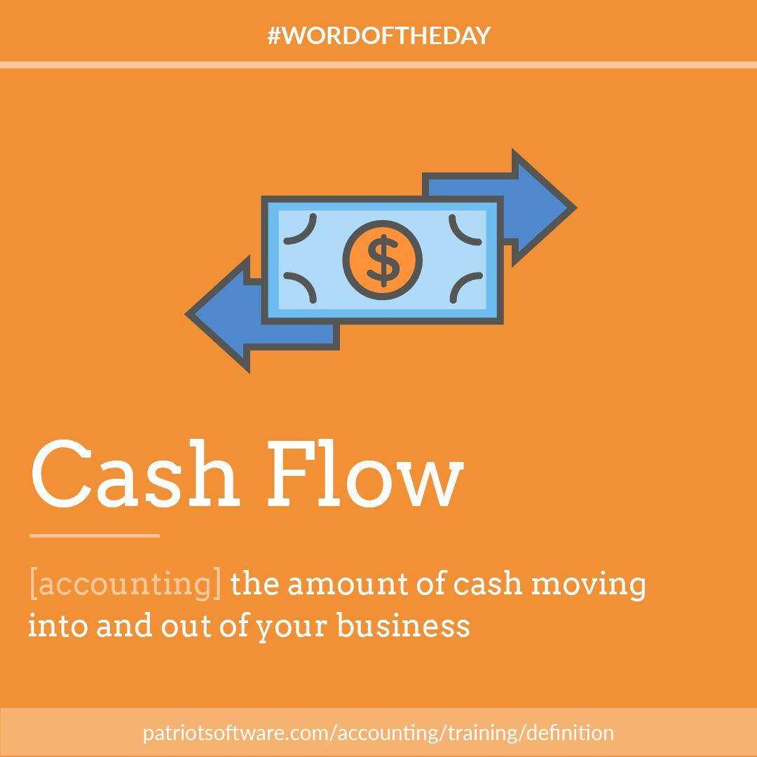 Today's WordOfTheDay is Cash Flow, the net amount of cash