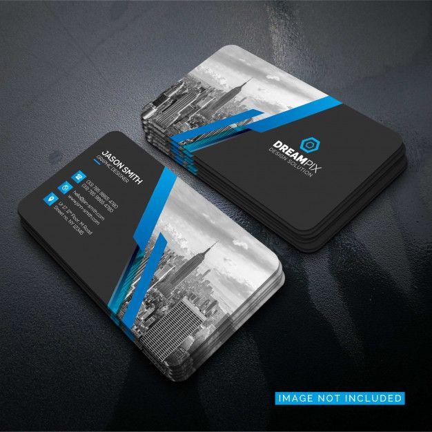Pack com vários modelos de mockup de cartão de visitas. Download Mockup Of Business Card With Photo Of City For Free Design De Cartao De Visita Cartoes De Visita De Luxo Cartao De Visita