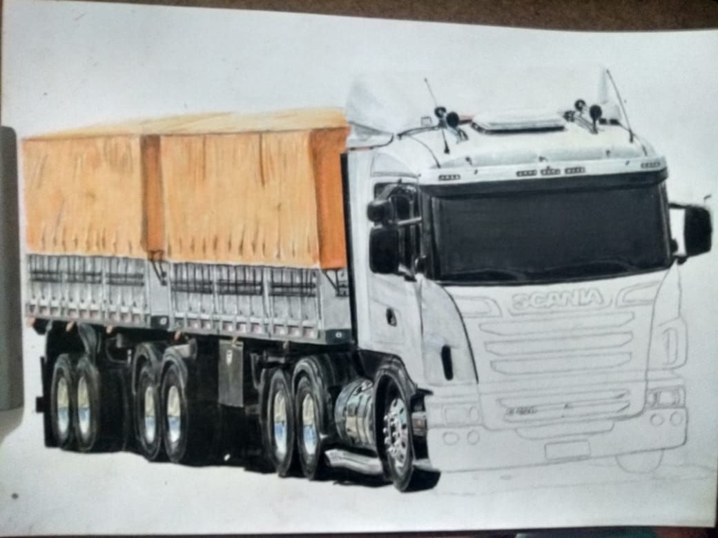 Scania G420 Desenho Realismo Desenhista Daniel Assis Deboa