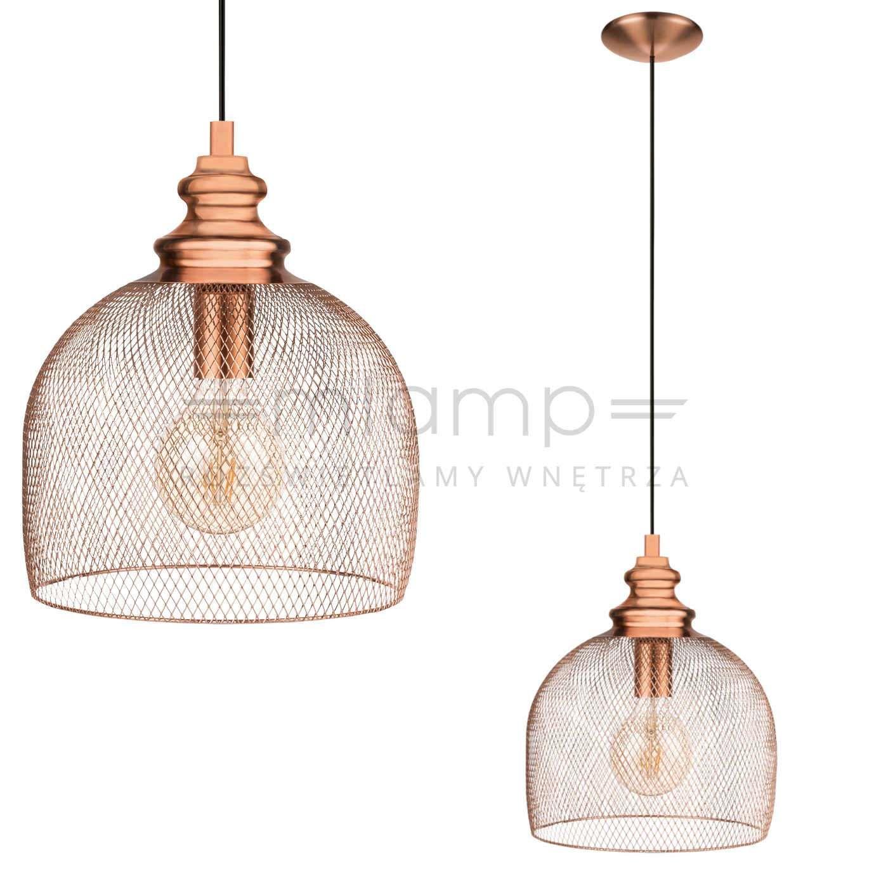 Industrialna Lampa Wiszaca Straiton 49738 Eglo Druciana Oprawa