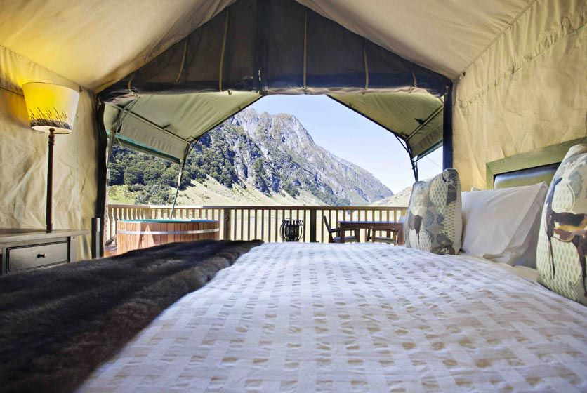Luxury c&site flies guests in via helicopter Minaret Station offers luxury gl&ing in the heart of the Southern Alps in New Zealand & Minaret Lodge Wanaka New Zealand. | New Zealand | Pinterest ...