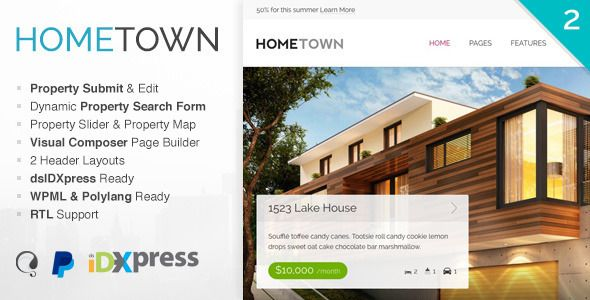 Hometown, plantilla WordPress para Agencias Inmobiliarias https ...