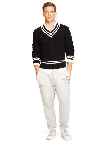 Cotton Blend Cricket Sweater Polo Ralph Lauren V Neck