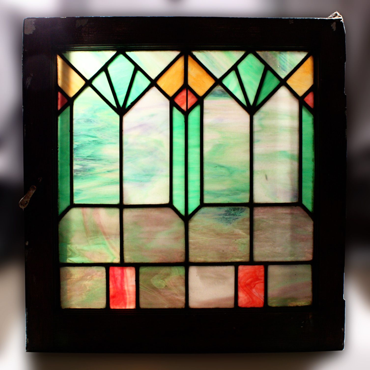 Antique American Arts & Crafts Stained Glass Window | Stained Glass ...