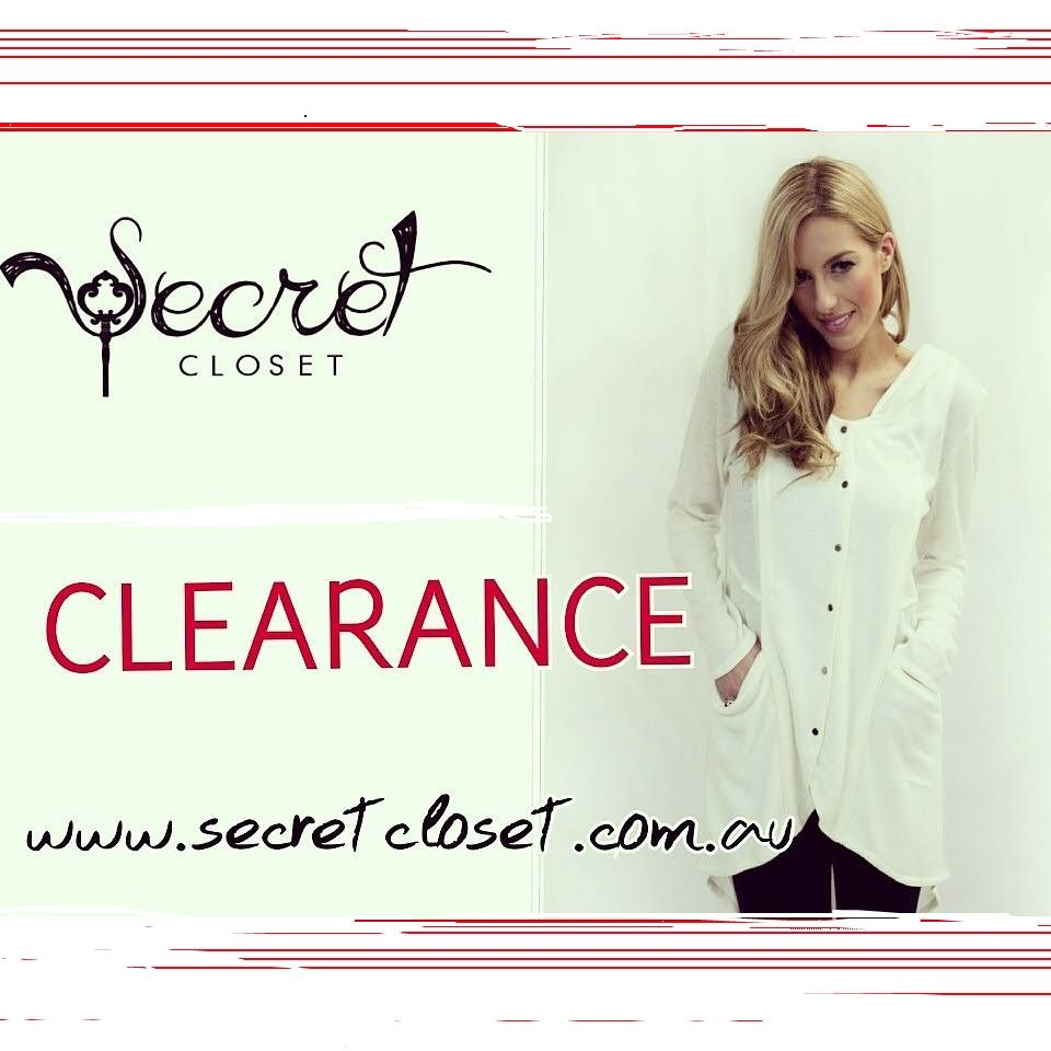 CLEARANCE!!   place you're order now ladies, items are selling fast! Busy week in the office!   www.secretcloset.com.au