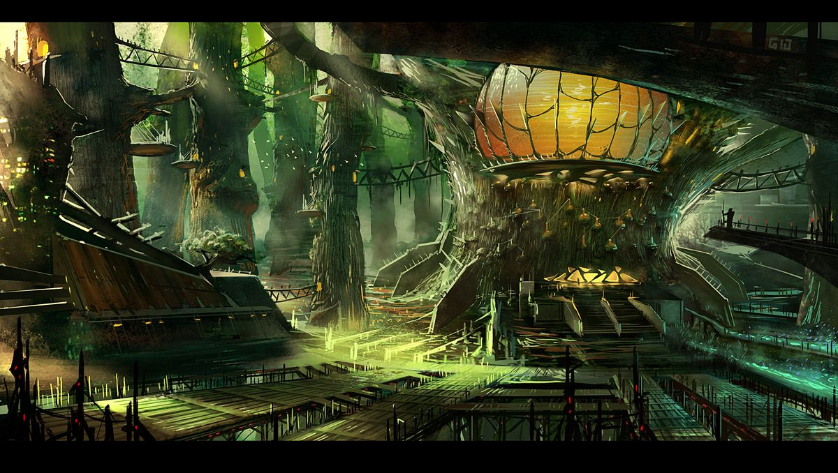 Fantasy Tree House Interior Environment Ideas