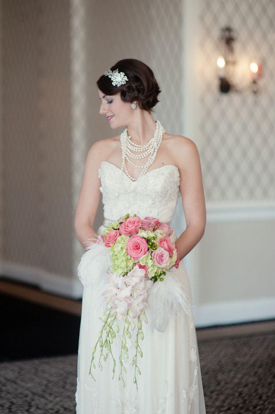 Great gatsby inspired bridesmaid dresses  Great Gatsby Wedding Inspiration from Robert u Kathleen