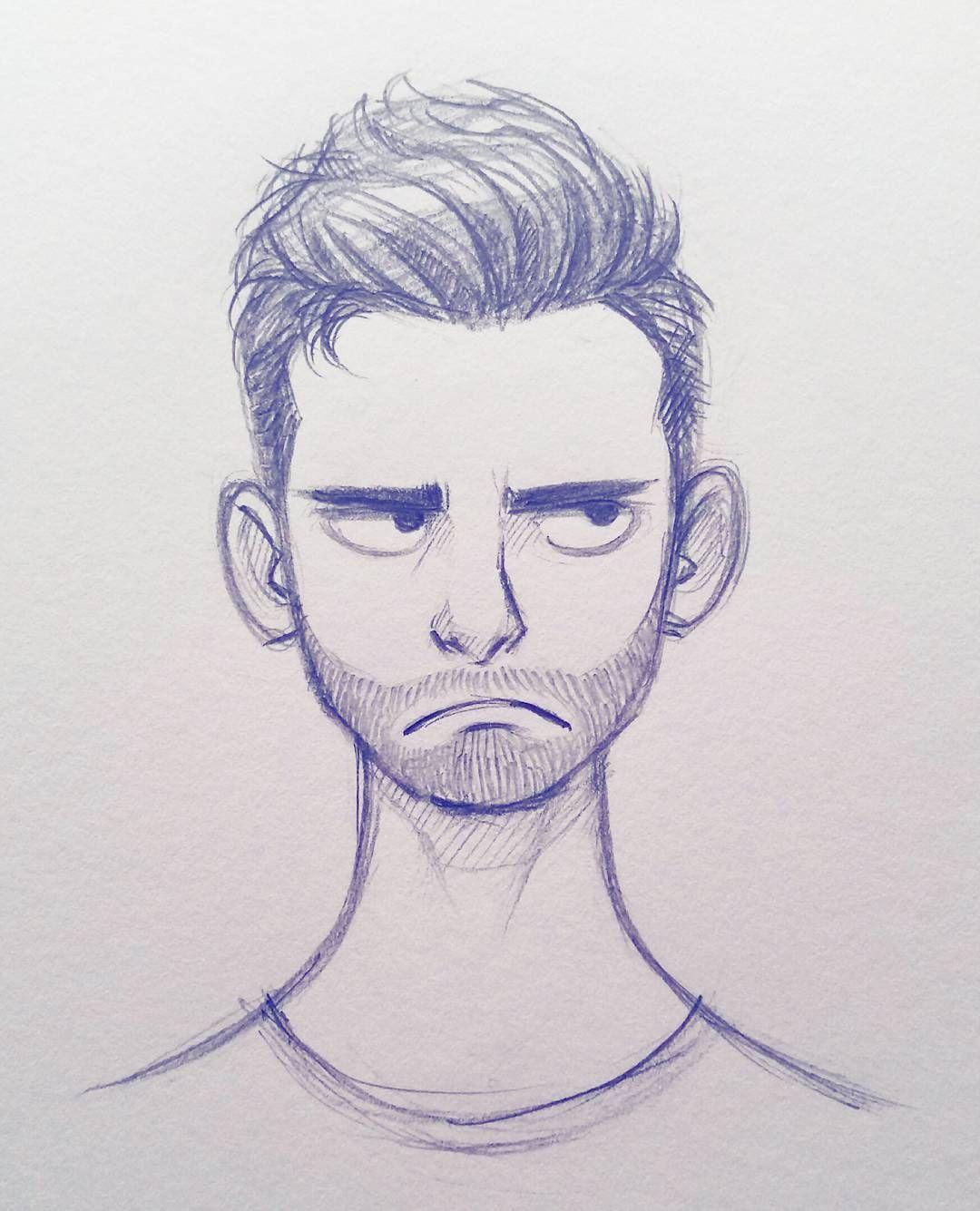 Line Drawing Male Face : Cameron mark cartoon doodle pinterest sketch