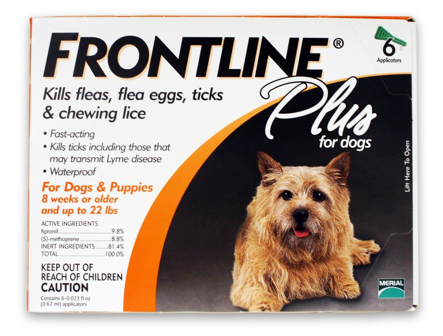 Amazon Com Merial Frontline Plus Flea And Tick Control For Dogs And Puppies 8 Weeks Or Frontline Plus For Dogs Tick Control For Dogs Tick Treatment For Dogs