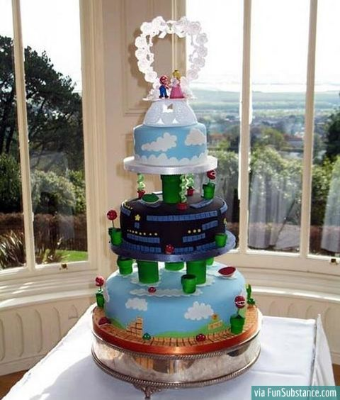 Super Mario wedding cake lol gonna be Dominic @Amber Alonso
