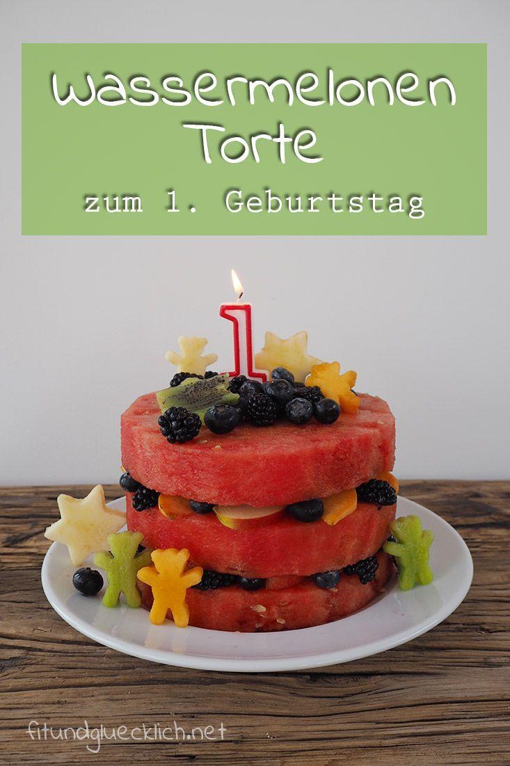 Mehrstöckige Wassermelonentorte zum ersten Geburtstag - Fit & Glücklich #melonrecipes