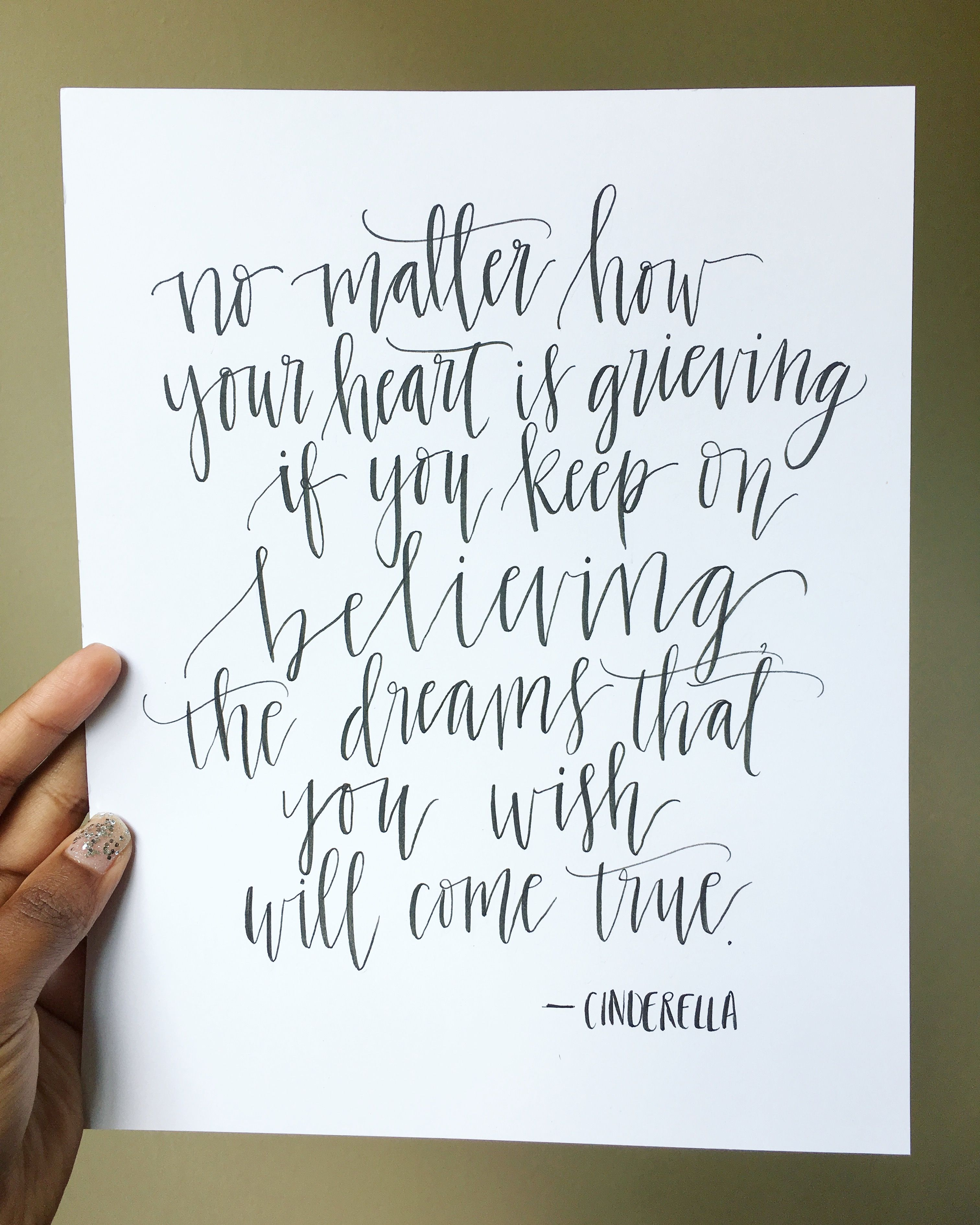 Disney Quote - Hand Lettering Calligraphy