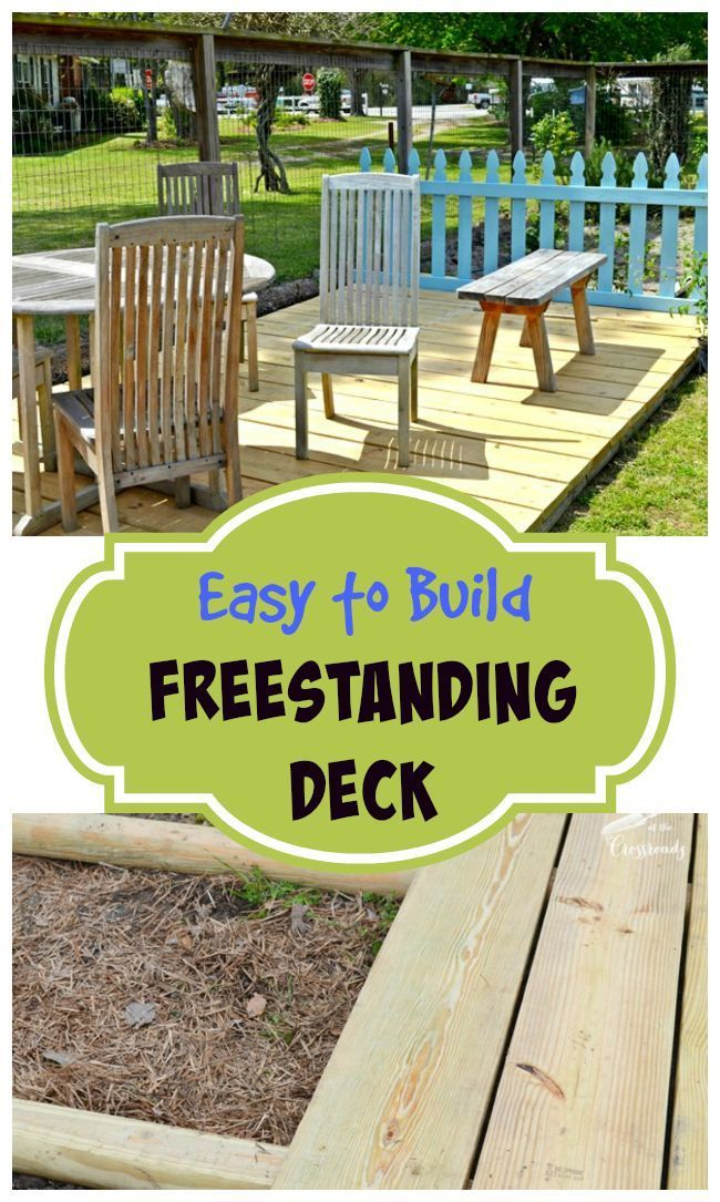 Freestanding Deck In Our Garden Talk Diy To Me L The