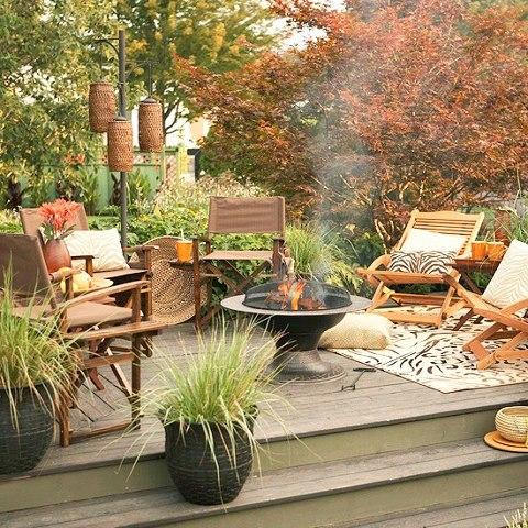 Fall patio