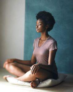 beautiful black woman meditating  meditation practices