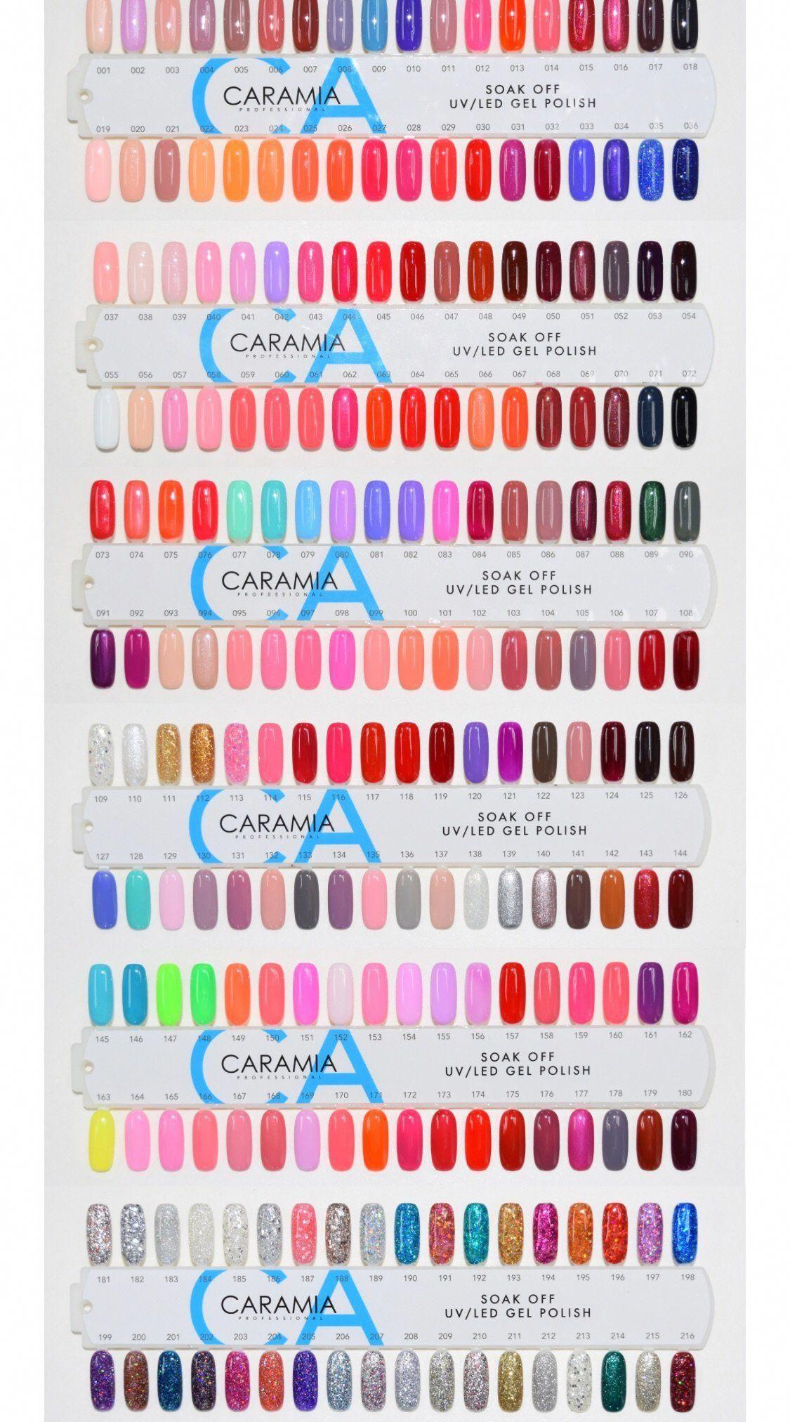 Caramia Complete Matching Set Gelnailpolish Nail Colors For Pale Skin Diy Nails Manicure Nail Polish Colors