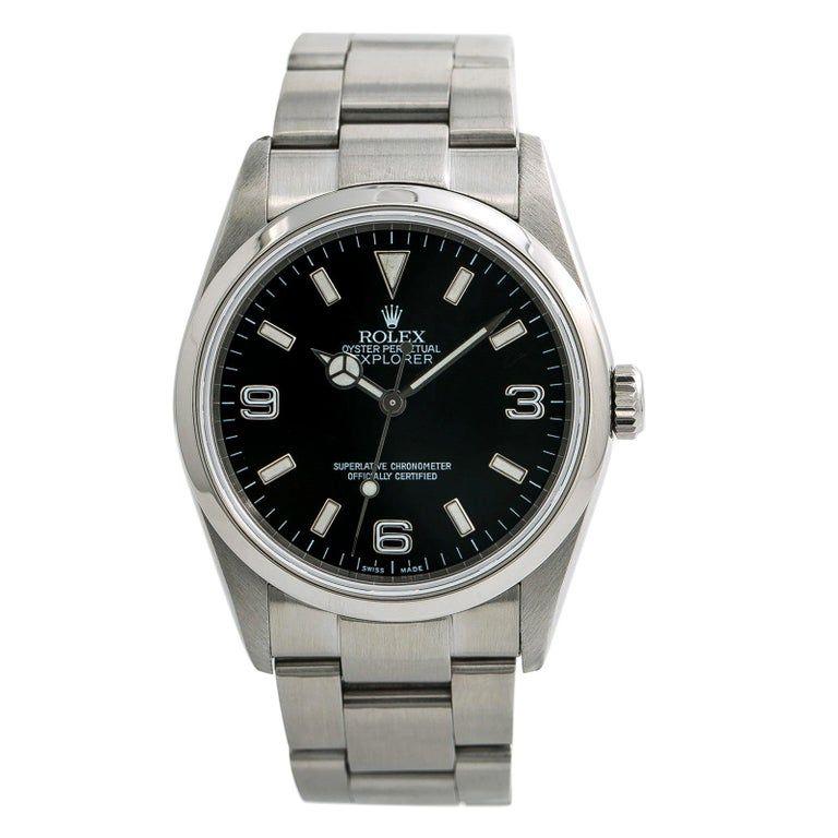 Rolex Explorer 114270, Black Dial, Certified And Warranty #rolexexplorer