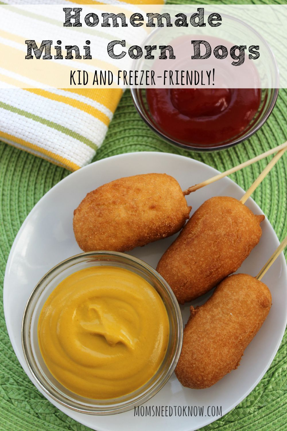 homemade corn dogs recipe kid friendly and freezer friendly recette top pins from top. Black Bedroom Furniture Sets. Home Design Ideas
