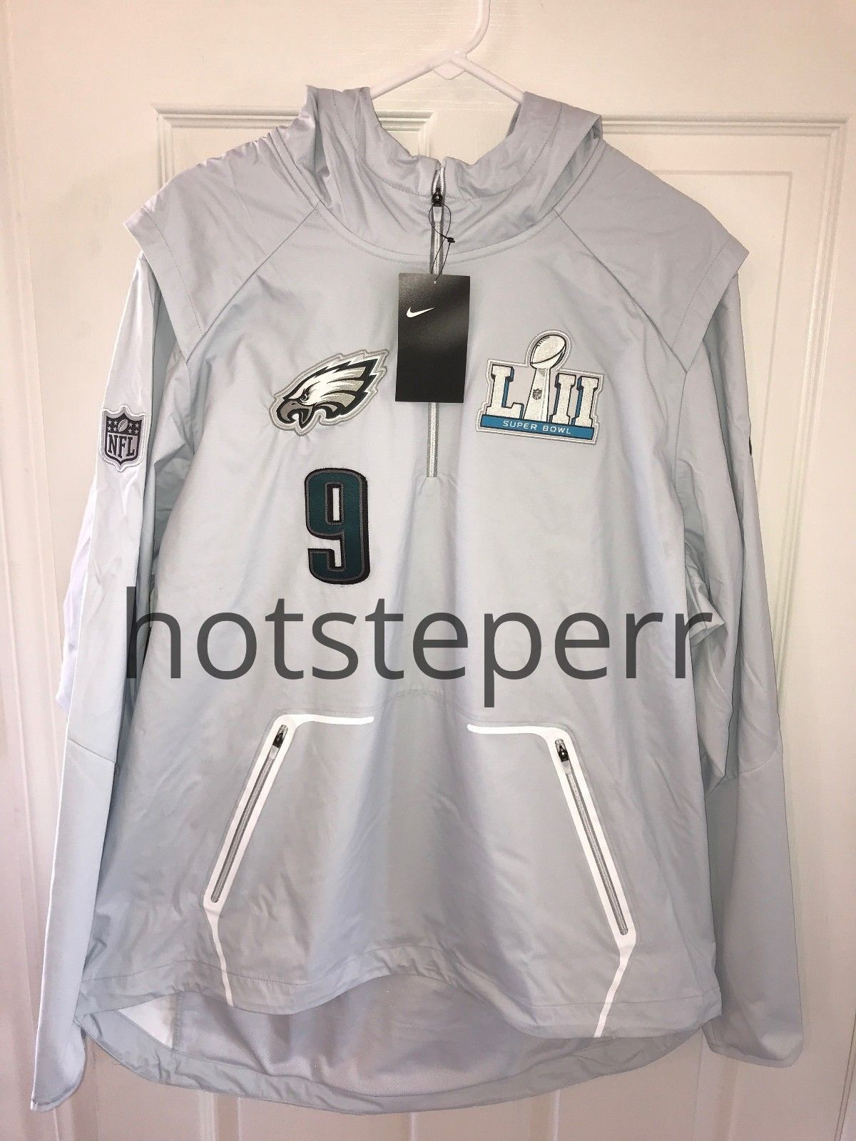 NIKE PHILADELPHIA EAGLES NICK FOLES  9 SUPER BOWL LII 52 MEDIA NIGHT JACKET  NEW 6c3892987