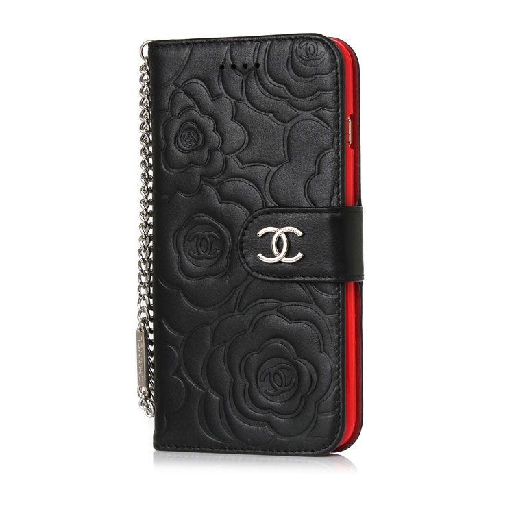 Camellia Leather Wallet Case Chanel iPhone8/7/6S/6/Plus ...