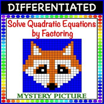 Solve Quadratic Equations By Factoring A1 Differentiated Mystery