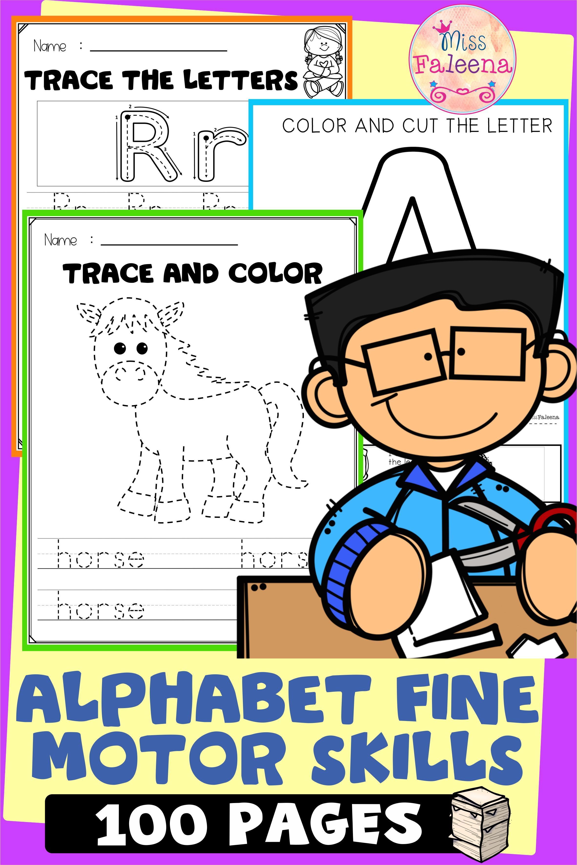 Alphabet Fine Motor Skills In